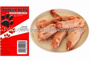 Marca de alimentação natural na Nova Zelândia vendendo ossos de frango.